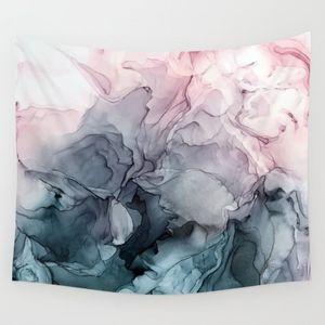 Society6 Wall Art - NWOT Blush & Payne Grey Flowing Abstract Tapestry